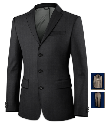 Photos Costumes Homme with 3 Buttons, Single Breasted