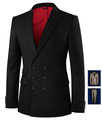 Costume Steward with 6 Buttons, Double Breasted (3 To Close)