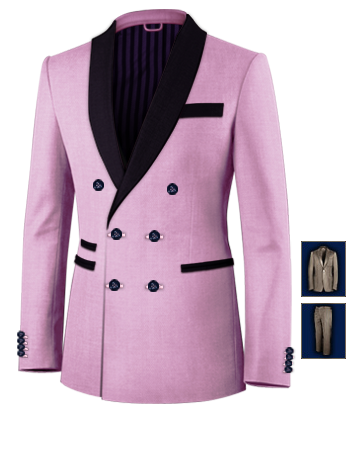 Costume De Luxe Double Poche Ray� with 6 Buttons, Double Breasted (2 To Close)