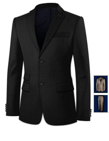 Costumes Cor�en with 2 Buttons, Single Breasted