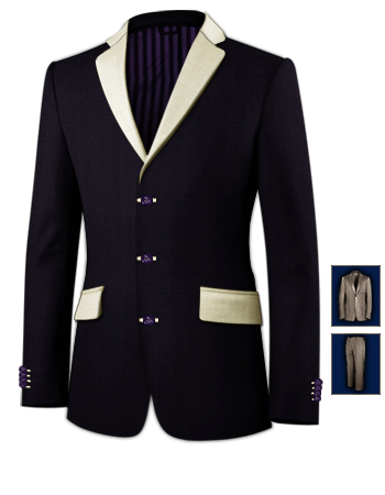 Costume Sur Mesure 78 with 3 Buttons, Single Breasted