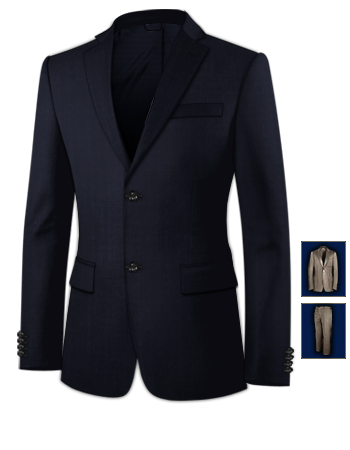 Veste Blazer Homme with 2 Buttons, Single Breasted