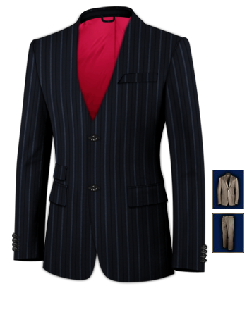 Costume Homme Sur Mesure 100 Euros with 2 Buttons, Single Breasted