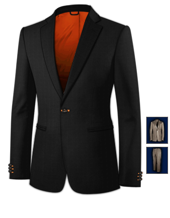 Costume Homme Sur Lannion with 1 Button, Single Breasted