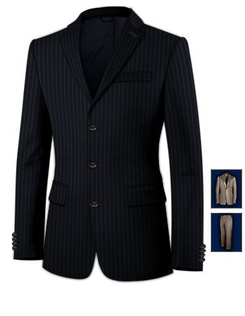 Vestes Blazer Homme with 3 Buttons, Single Breasted