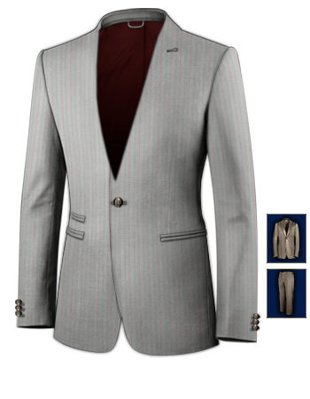 Mode Costume Et Veste Blazer Homme with 1 Button, Single Breasted
