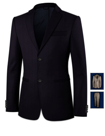 Veste Costume Homme Couleur with 2 Buttons, Single Breasted