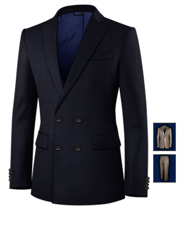 Costumes Hommes Class Pas Cher with 4 Buttons,double Breasted (2 To Close)