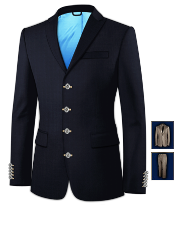 Costumes Homme Pas Cher Paris with 4 Buttons, Single Breasted