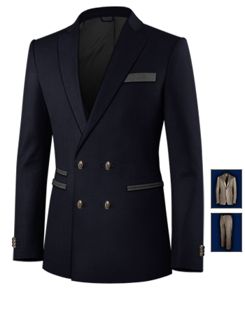 Costume Homme Cintr� Paris with 4 Buttons,double Breasted (2 To Close)