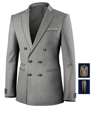 Costume De Nuit with 6 Buttons, Double Breasted (2 To Close)
