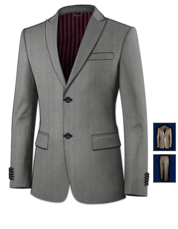 Costard Costume Rouge with 2 Buttons, Single Breasted