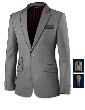 Prix Costumes Homme with 1 Button, Single Breasted