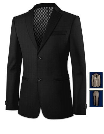 Costume Blanco with 2 Buttons, Single Breasted