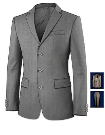Ventes Costumes with 3 Buttons, Single Breasted