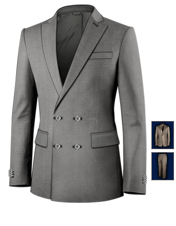 Costume Vetements with 4 Buttons,double Breasted (2 To Close)
