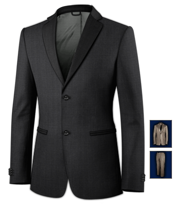 Costume Italien Super 100 with 2 Buttons, Single Breasted