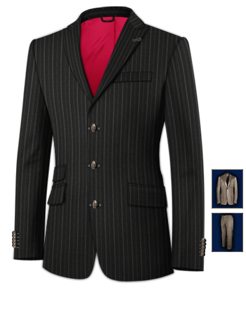 Costumes Classe with 3 Buttons, Single Breasted
