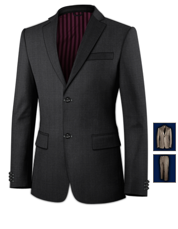 Costume Taille 68 Coupe Cintr� with 2 Buttons, Single Breasted