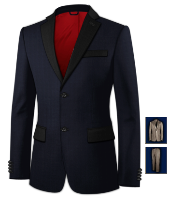 Costumes with 2 Buttons, Single Breasted
