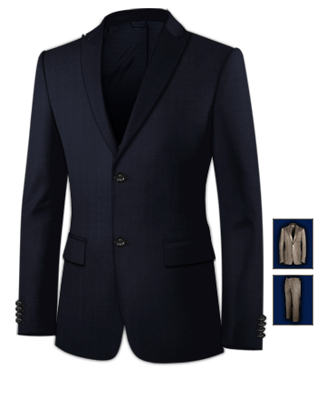 Costume Homme Slim with 2 Buttons, Single Breasted