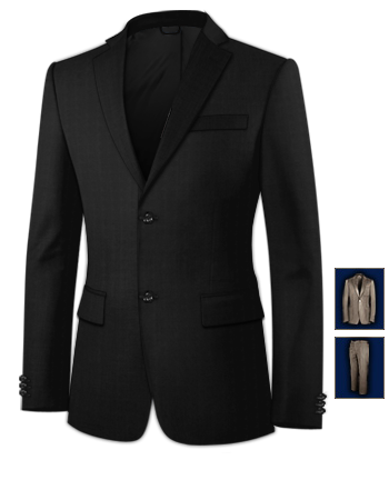 Costumes Hommes Mariage with 2 Buttons, Single Breasted