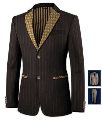 Prix Costume Sur Mesure with 2 Buttons, Single Breasted