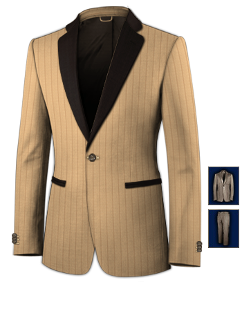 Costume Hommes with 1 Button, Single Breasted