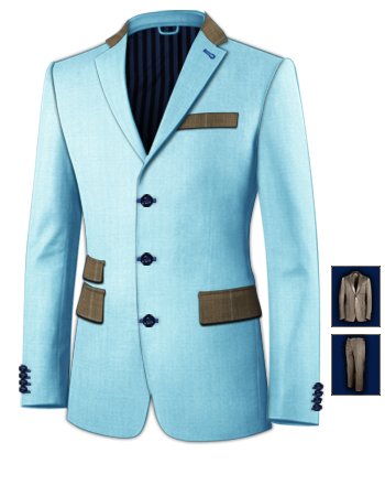 Costumes Pour Homme with 3 Buttons, Single Breasted