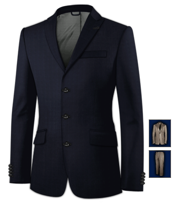 Costume Homme Discount with 3 Buttons, Single Breasted