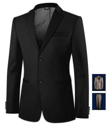 Taille Costume Homme with 2 Buttons, Single Breasted