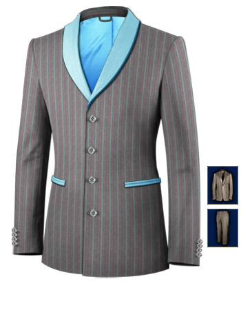 Costume Homme Marron with 4 Buttons, Single Breasted