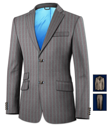Costume Sur Mesures with 2 Buttons, Single Breasted