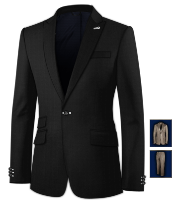 Costume Marron with 1 Button, Single Breasted
