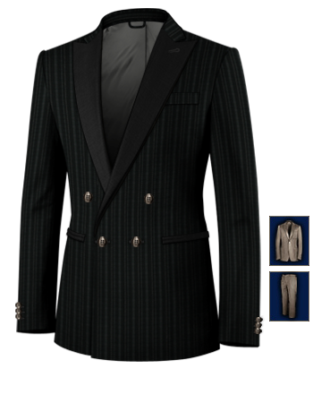Tailleur Sur Mesure with 4 Buttons, Double Breasted (1 To Close)