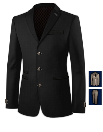 Costume Hommes Mariage with 3 Buttons, Single Breasted