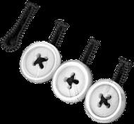 White Sleeve Button